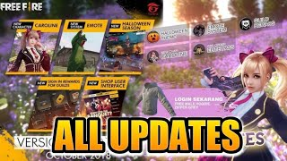 LET'S HAVE A LOOK TO ALL NEW UPDATES AND CUSTOM ROOM!!   FRREFIRE BATTELGROUND  