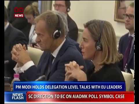 India EU exchange three agreements