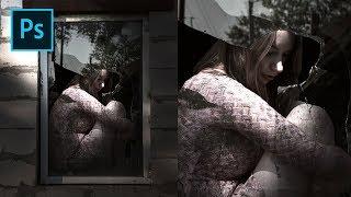 دروس فوتوشوب - جعل الدرامي في ضوء انخفاض لمس الصورة