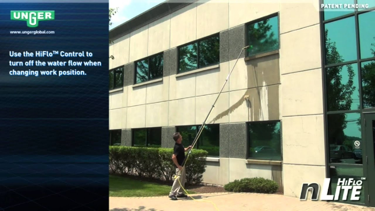 Unger nLite Pole System for Professional Window Cleaning (FULL VIDEO)