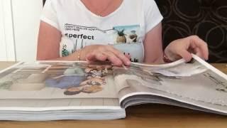 ASMR slow page turning through magazine