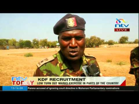 Low turn out marks KDF recruitment exercise in parts of the country