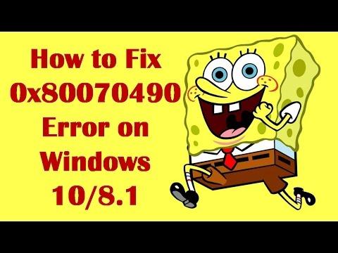 How to Fix 0x80070490 Error on Windows 10/8.1 - How to Fix Error Code 0x80070490 in Windows 10/8.1