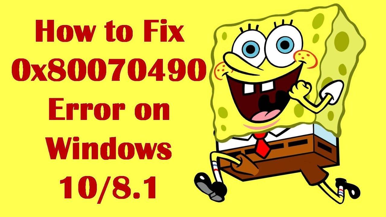 How to Fix 0x80070490 Error on Windows 10/8.1 - How to Fix ...