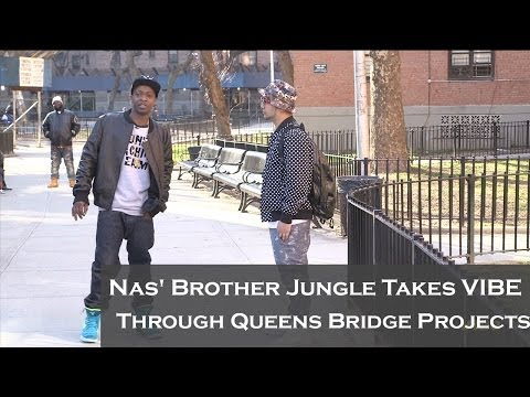 Nas' Brother Jungle Takes VIBE Through Queensbridge Projects