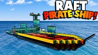 Crazy Men Lost At Sea Build a PIRATE SHIP to Survive! - Raft Multiplayer Gameplay Roleplay