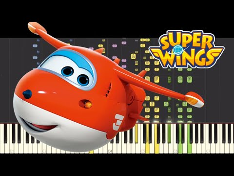 IMPOSSIBLE REMIX - Super Wings Theme Song - Piano Cover