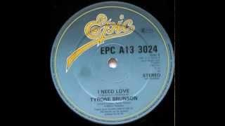 Tyrone Brunson - I Need Love (1982)