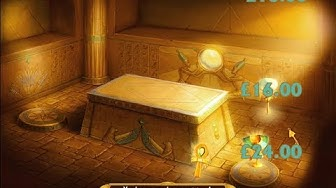 Bonus Feature Triggered on Playtech's Pharaoh's Treasure Deluxe Online Slot