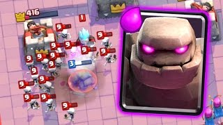 Let's Play Clash Royale #61: BEAST Golem Deck!
