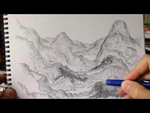 Jmbs artlog day 7 real time pencil fantasy landscape drawing jmb creative art