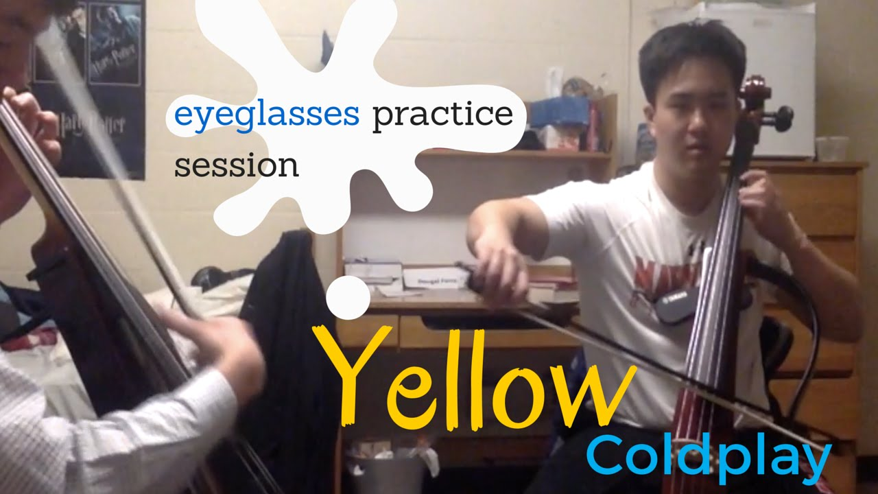 Coldplay, Yellow (BEHIND THE SCENES look into how we practice!)