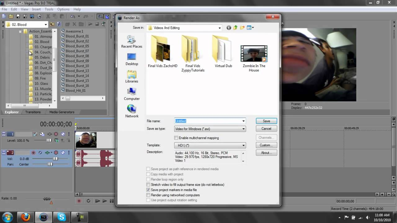 Rendering Settings And How To Make Video Size Smaller (Sony Vegas ...