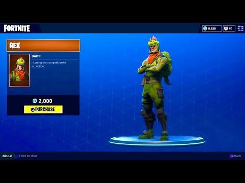 "NEW ""REX"" OUTFIT (Dinosaur Skin) - Fortnite Battle Royale"