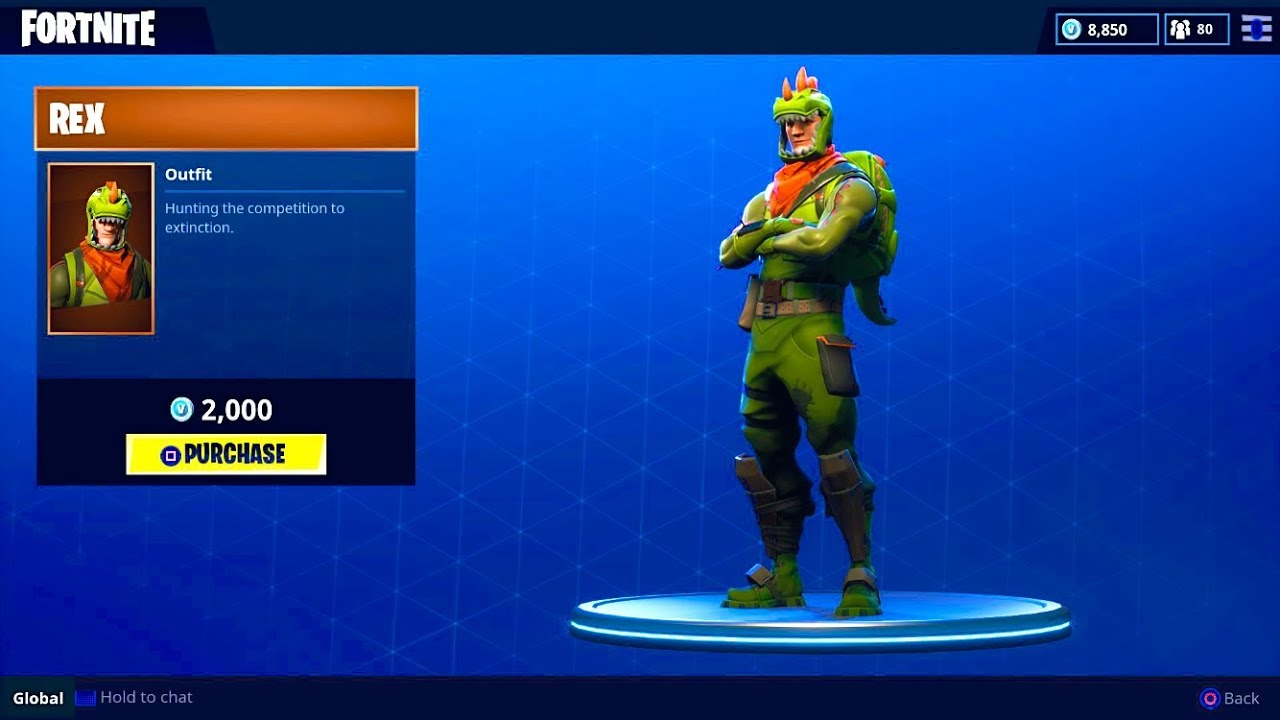 New Rex Outfit Dinosaur Skin Fortnite Battle Royale Youtube