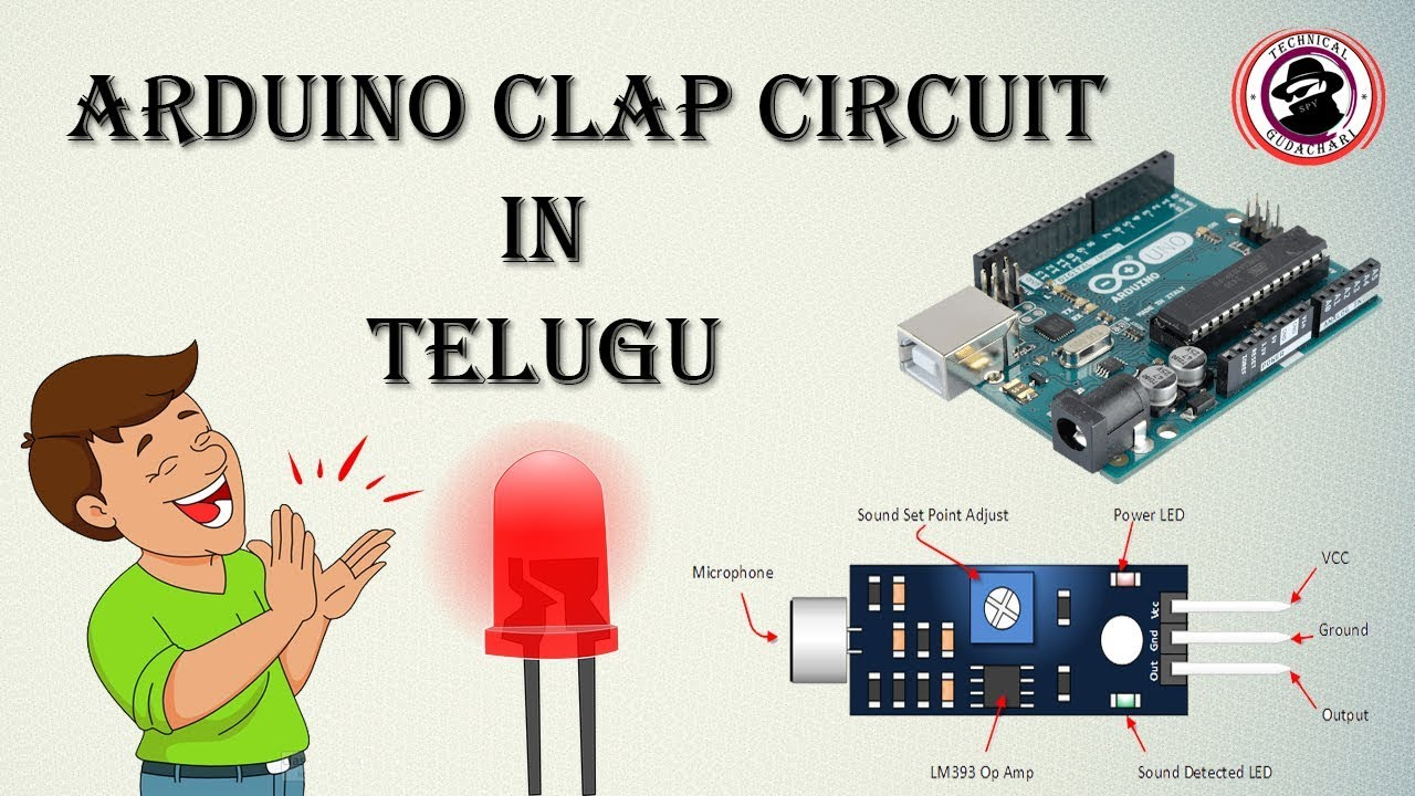 Arduino - Sound Sensor Module with LED in Telugu