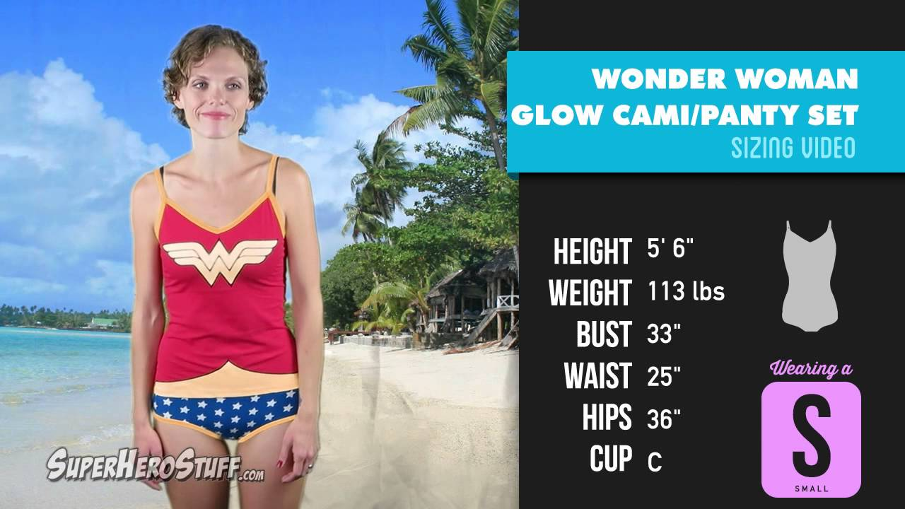 6117c5e0611f Wonder Woman Glow in the Dark Cami/Panty Set
