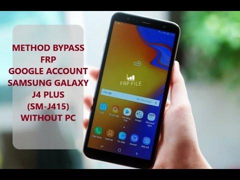 Samsung J4 plus SM-j415 U2/BIT2/REV2 FRP BYPASS without PC/ use method PIN SIM