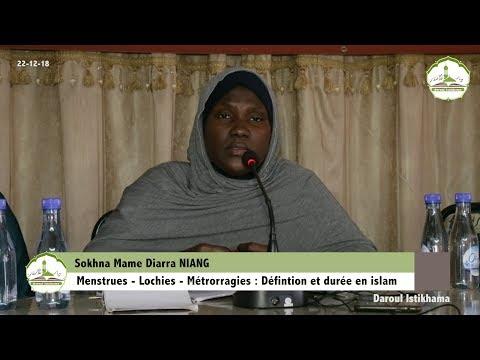 Menstrues - Lochies - Métrorragies : Définition et durée en islam | Sokhna Mame Diarra NIANG
