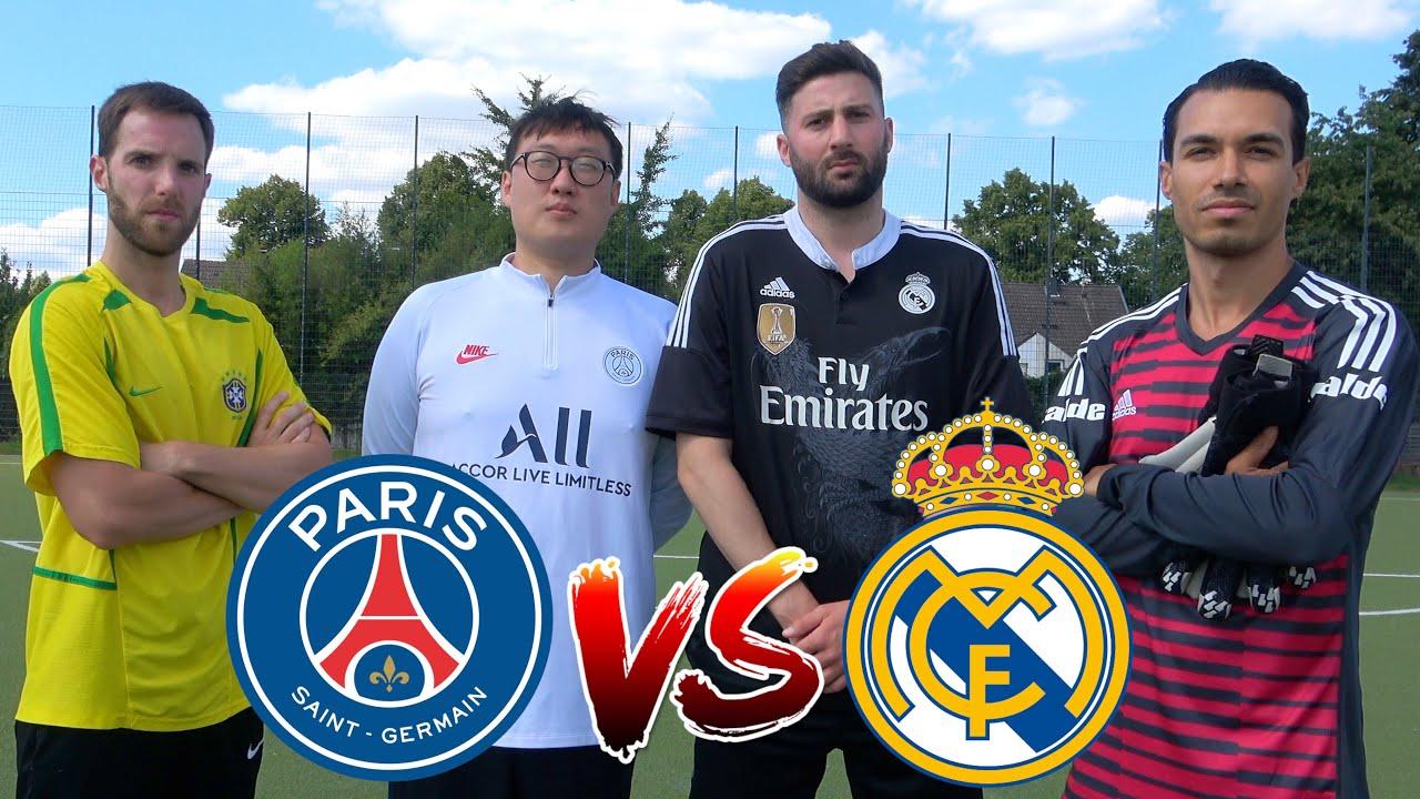 PSG vs REAL ⚽️ FUßBALL CHALLENGE