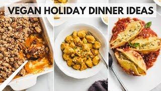 Hearty vegan holiday dinner recipes ▸▹ easy + healthy