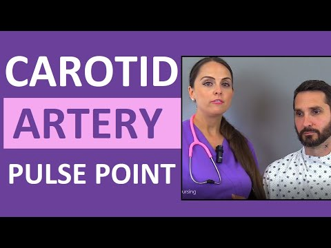 Carotid Pulse Point Examination, Palpation, & Location Nursing Skill