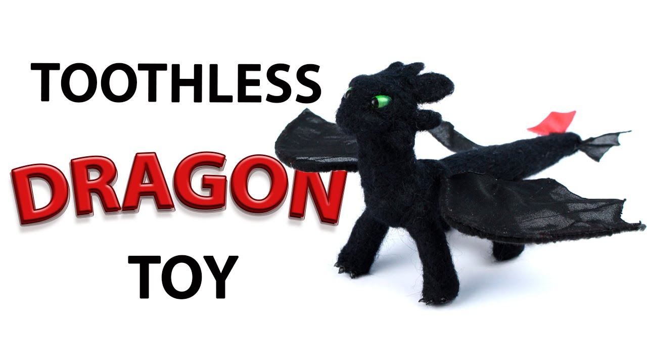 Diy Toothless Dragon Toy From How To Train Your Dragon Youtube