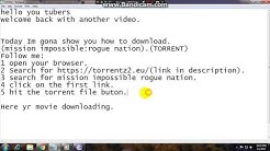 How to download mission impossible:rogue nation((TORRENT).