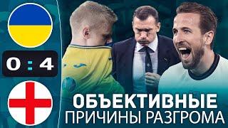 Тотальный ПРОВАЛ Украины Украина Англия 0 4 обзор матча