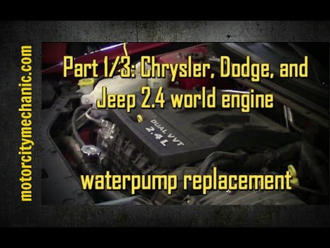 Part 1 3 2013 Dodge Avenger 2 4 Liter Waterpump Removal Youtube