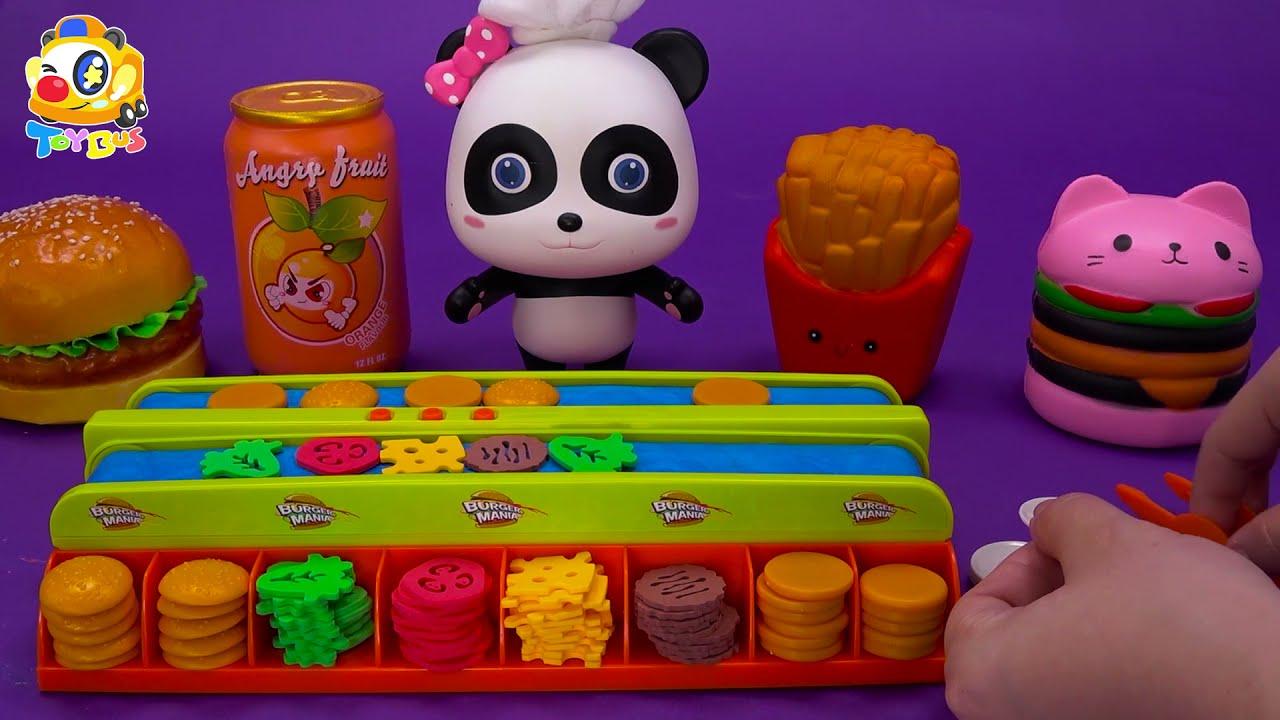奇妙玩具故事🌟丨玩具巴士丨兒童玩具丨妙妙做美味的漢堡🍔