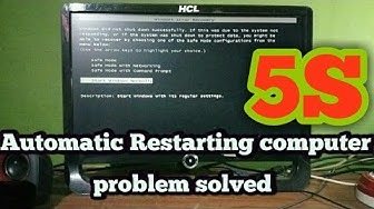 How to Fix A PC That Keeps Restarting Again And Again Automatically - Solution For Windows 7/10