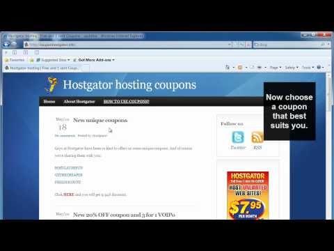 Hostgator Coupon Tutorial - BEST Hostgator coupons