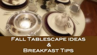Fall Tablescape & Menu Ideas