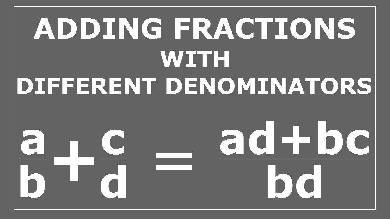 how to add different denominators