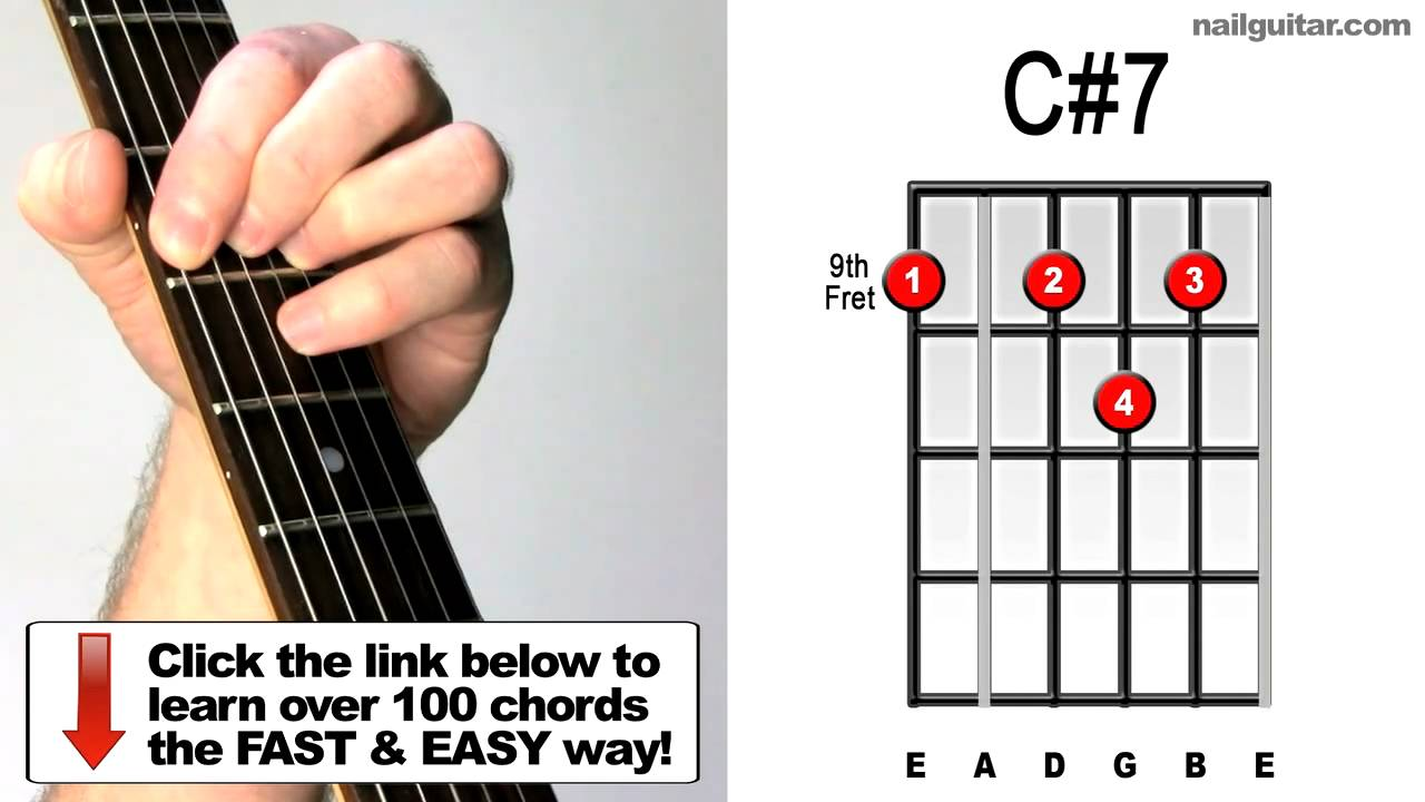 How To Play C7 Useful Guitar Chords Tutorial The Doors Stone
