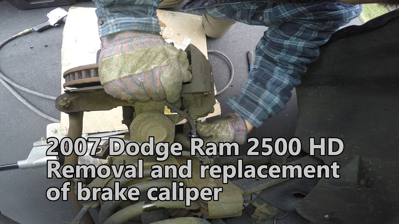 Remove and Replace of Brake Caliper and Caliper Bracket on 2007 Dodge Ram 2500 4x4 HD 59L