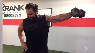 The Bulgarian Brute engages in a hard-fought workout as he prepares...