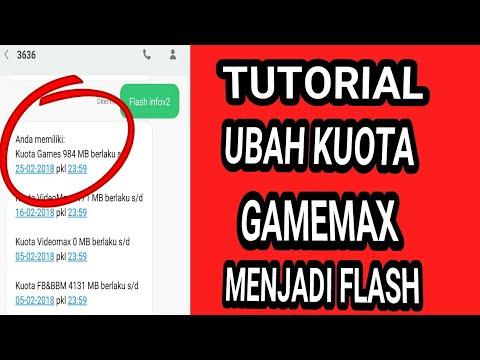 Tutorial Ubah Kuota Gamemax Menjadi Kuota Flash Reguler Youtube