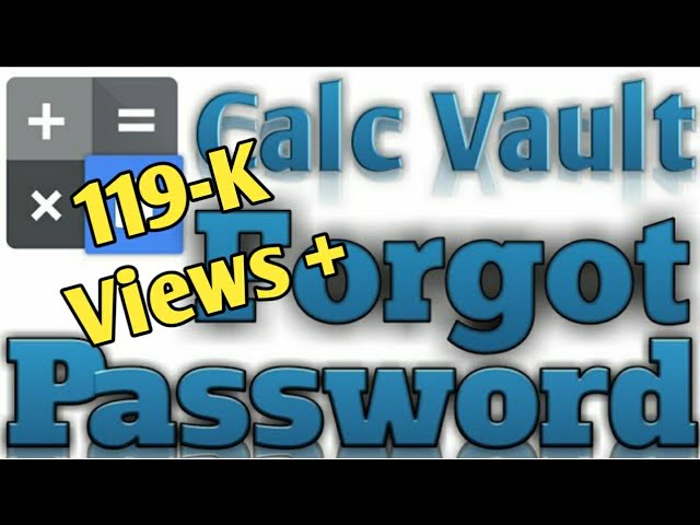 Calc Vault Photo Video Locker App Forgot Password In Hindi 2021 Technical Mosiur Youtube