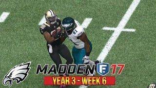 Wentz Shines in 1st Live Commentary! | Madden 17 Eagles CFM | Week 6 vs Saints | Ep. 53