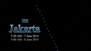 Video ketika ISS melintas terlihat seperti cahaya bintang berjalan