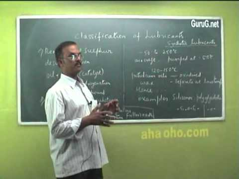 Unit-5 Lubricants (Mechanism of Lubrication,Liquid Lubricants,Properties) - Chemistry
