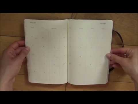 Moleskine 2018 monthly planner review!