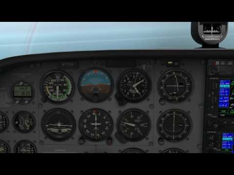 Flightsim Arlington TX to Tulsa OK: Learning VOR navigation