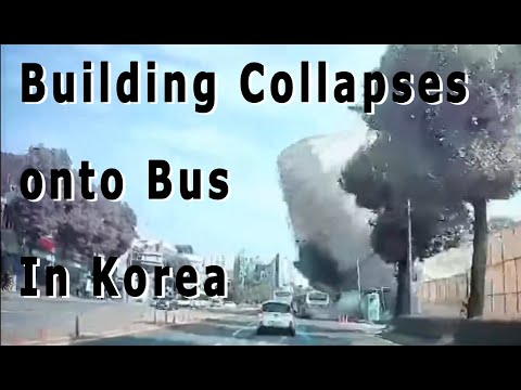 At Least 9 Dead after Building Collapses onto passing bus in Gwangju, Korea