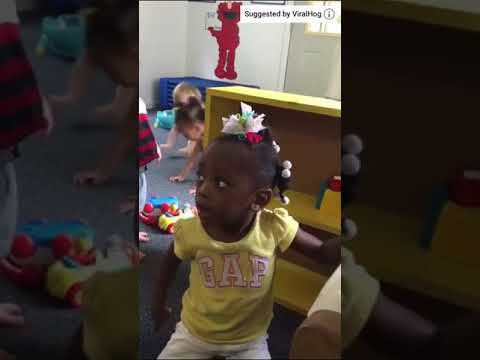Little girl in preschool goes off after she gets put in timeout.