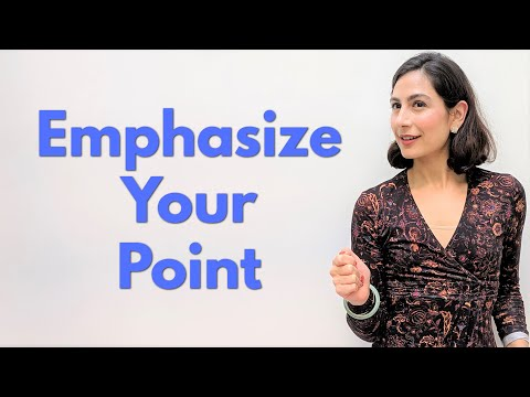 Stress Patterns In English | How to Emphasize Points
