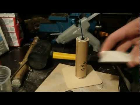 Fabrication test d 39 une fontaine artifice how to make - Fabriquer une echelle en bambou ...