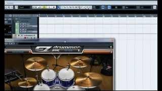 Раскладка на микшер EZ Drummer в Cubase